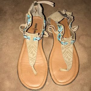 Minnetonka Beaded Sandals